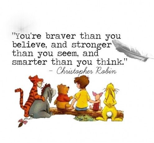 Image result for winnie the pooh and friends you re stronger than you think""
